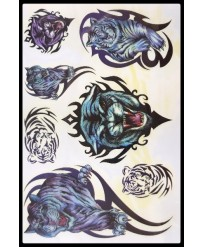 "Tattoo "" Tiger Faces """