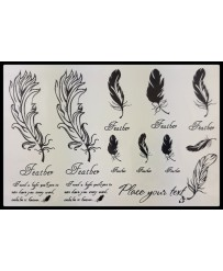 "Tattoo  "" Plumes Feather """