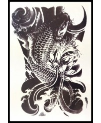 "Tattoo "" kOI CARP Black """