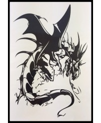 tattoo temporaire dragon noir