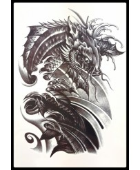 "Tattoo "" kOI CARP Black n°2"""