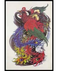 "Tattoo  "" Phoenix  Couleur """