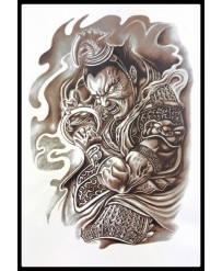 Tattoo Guerrier Bouddhiste