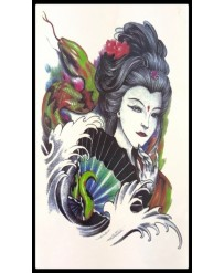 "Tattoo "" Geisha et Serpent """