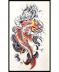 "Tattoo "" Carpe & Dragon"""