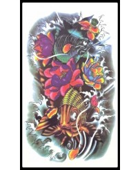 "Tattoo "" Carpes & Lotus """
