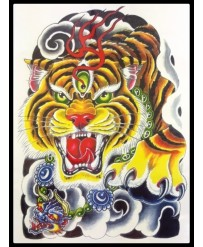 "Tattoo  "" Bengal Tiger n°2 """