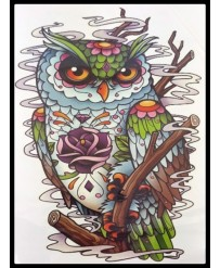 tattoo hibou couleur