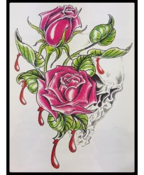 "Tattoo  "" Rose Sanguine """