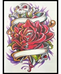 "Tattoo  "" Rose de la mort """