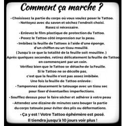 "Tattoo  "" Divers texte Anglais """
