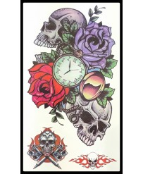 "Tattoo  "" Skull'n Clock"""