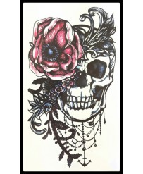 "Tattoo  "" Skull & Flower"""