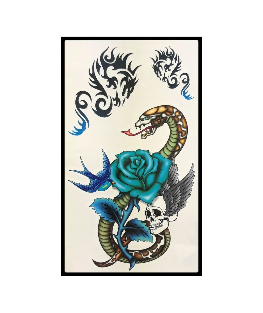 Tattoo Snake & Dragons