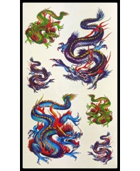 petit tattoo dragons couleur