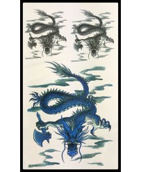 tatouage dragon serpent bleu