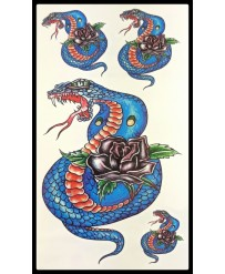 "Tattoo  "" Blue Snakes"""