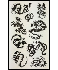 tattoo tribal dragon noir