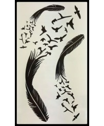 """Tattoo  """" Plumes Noires """""""