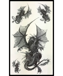 tattoo dragon ailé