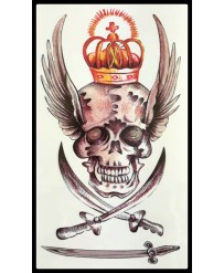 "Tattoo  "" Crown Skull """