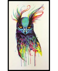 tattoo hibou arc en ciel