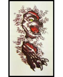 "Tattoo  ""Angry Wolf n°3 """