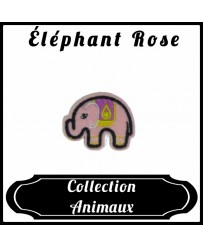 Patch Éléphant Rose