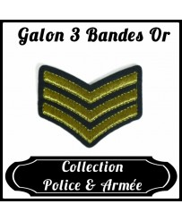 Patch Galon 3 Bandes Or