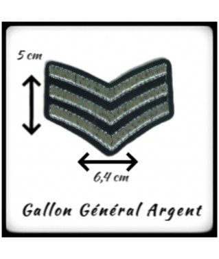 Patch Galon 3 Bandes Argent