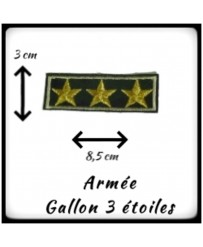 Patch Galon 3 étoiles Or
