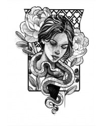 tattoo ephemere fille serpent