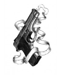 tatouage ephemere Revolver