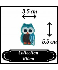 Patch Hibou Bleu