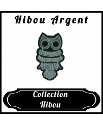 Patch Hibou Argenté