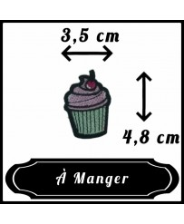Patch Cupcake Cerise