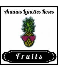 Patch Ananas Lunettes Roses
