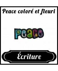 Patch Peace coloré et fleuri