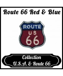Patch Route 66 Red & Blue