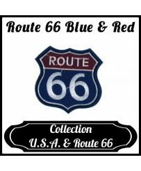 Patch Route 66 Blue & Red