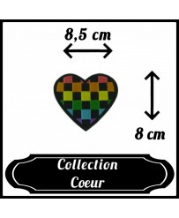 Patch Cœur Damier