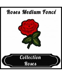 Patch Rose Medium Foncé