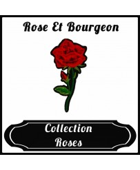 Patch Rose et Bourgeon