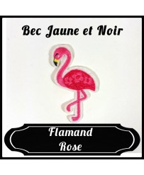 Patch Flamand Rose Bec Jaune et Noir