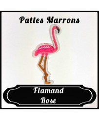 Patch Flamand Rose Pattes Marron