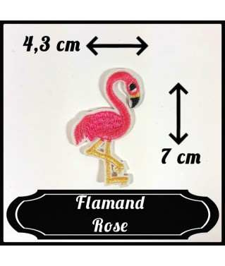 Patch Flamand Rose Pattes Beiges Clair