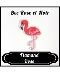 Patch Flamand Rose Bec Rose et Noir