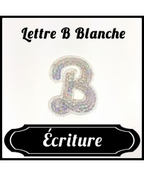 Patch Lettre B Blanche