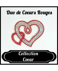 Patch Duo de Cœurs Rouges