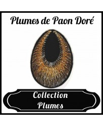 Patch Plume de Paon Doré